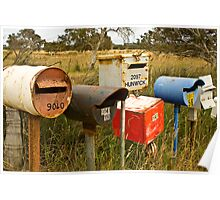 Roadside Mail Boxes Poster