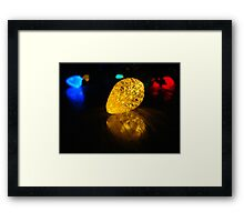 holiday lights Framed Print