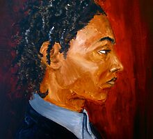 Study of male head by Dontae