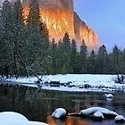 AlpenGlow-El Capitan: Yosemite National Park by Floyd Hopper