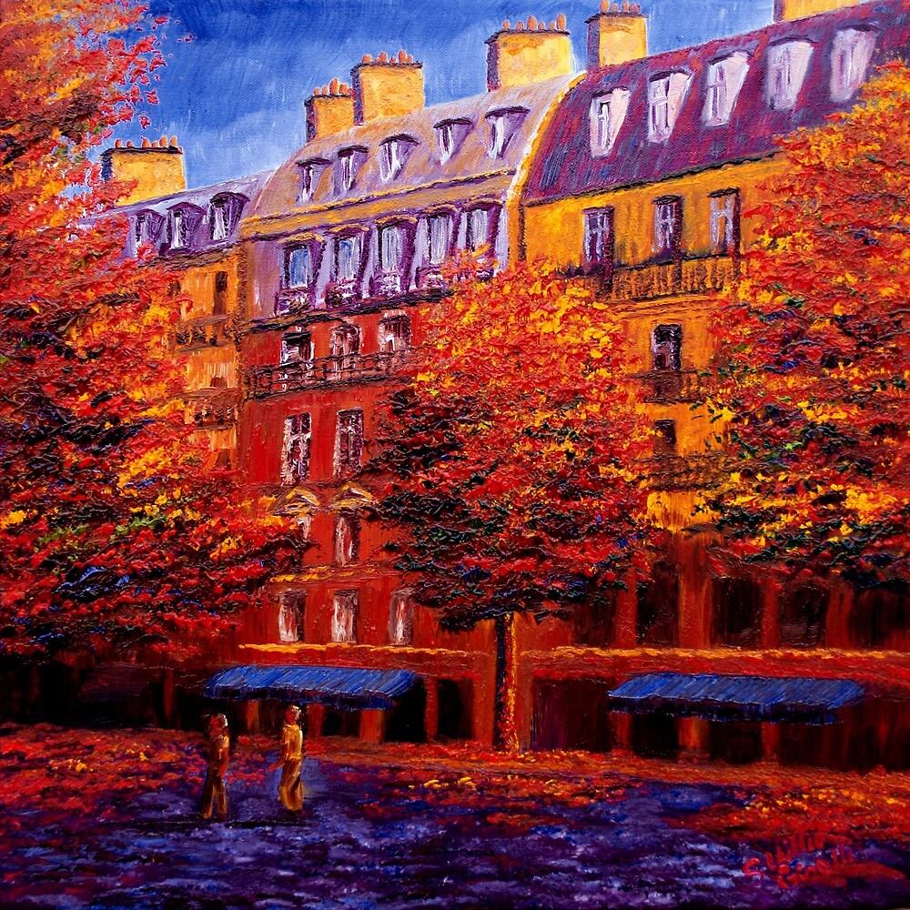 Autumn in Paris by sesillie