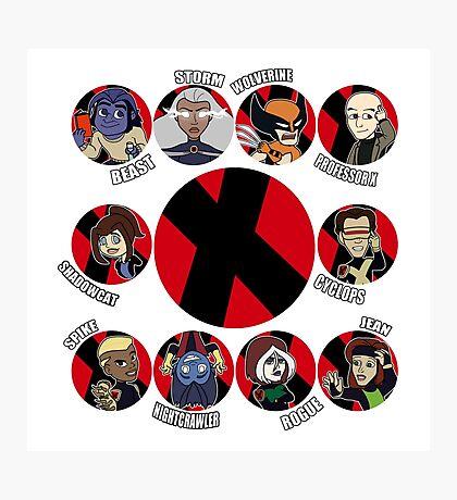 Xmen Evolution - Team Xmen Photographic Print
