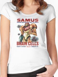 Samus says It's OK to kill brain cells Women's Fitted Scoop T-Shirt