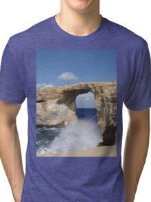 a stunning Malta landscape Tri-blend T-Shirt
