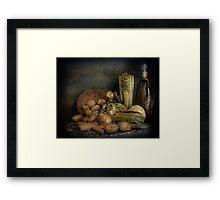 Still Life Vegetables  Framed Print