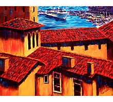 The Red Roofs of Monaco Photographic Print