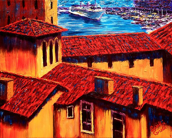 The Red Roofs of Monaco by sesillie
