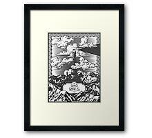 Lord of the Rings Eye of Sauron Vintage Geek Art Framed Print