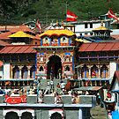 Front View of Badrinath Temple by RajeevKashyap