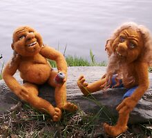Crackers & Alice - Needle Felted Dudes by feltalive