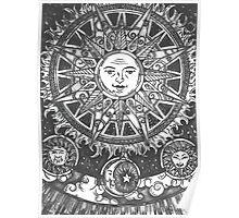 B/W Sun design  Poster