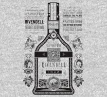Lord of the Rings Rivendell Wine Vintage Geek Art Kids Clothes