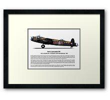Avro Lancaster B1 Profile Framed Print