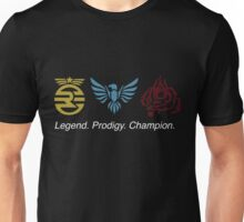 Legend. Prodigy. Champion Unisex T-Shirt