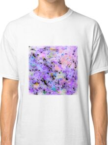 MODERN purple ART, hand DRAWN bit by bit digi Classic T-Shirt