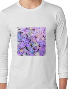 MODERN purple ART, hand DRAWN bit by bit digi Long Sleeve T-Shirt