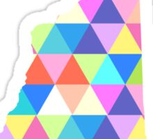 New Hampshire Colorful Hipster Geometric Triangles Sticker