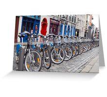 Eco-friendly Bike in Temple Bar Greeting Card