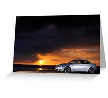 BMW M3 as the sun sets .... Greeting Card