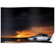 BMW M3 as the sun sets .... Poster