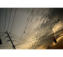 Telephones Wires Photographic Print