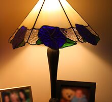 Blue Flower Lampshade by Keith G. Hawley
