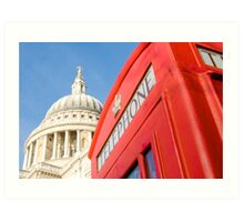 St Pauls And Phone Box Art Print