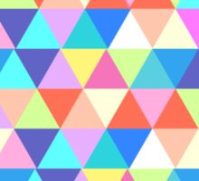 Iowa Colorful Triangles Geometric Hipster  Sticker