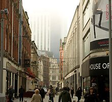 Cardiff city center at Christmastime by Christopher Ware