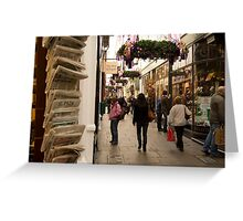Shopping arcade in Cardiff at Christmastime Greeting Card