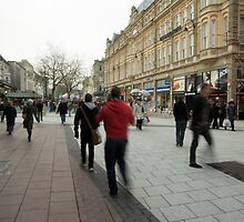 Cardiff Queen Street at Christmastime by Christopher Ware