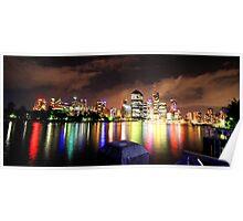Rainbow city - Brisbane Poster