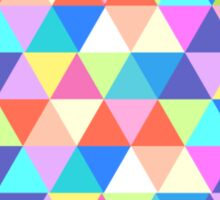 Kansas Colorful Hipster Geometric Triangles Sticker