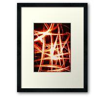 Flame Net Framed Print