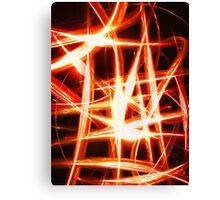 Flame Net Canvas Print