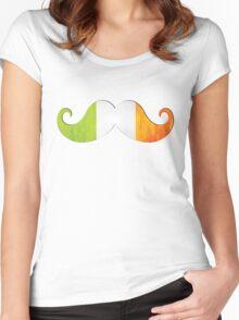 Irish St. Patrick's Mustache Pride Women's Fitted Scoop T-Shirt