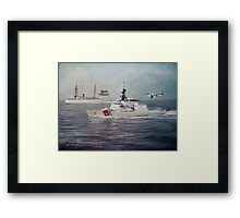 U. S. Coast Guard Then and Now - 1915-2009 Framed Print