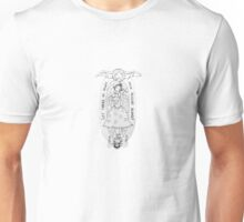 Haunted Lady in White Unisex T-Shirt