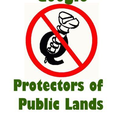 4Q T-Shirt . Style T5 Google Protectors of Public Lands Sticker