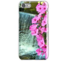 Petunias and a Waterfall iPhone Case/Skin