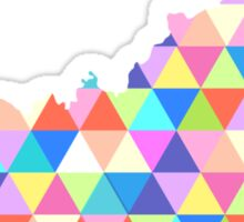 Kentucky Colorful Hipster Geometric Triangles Sticker