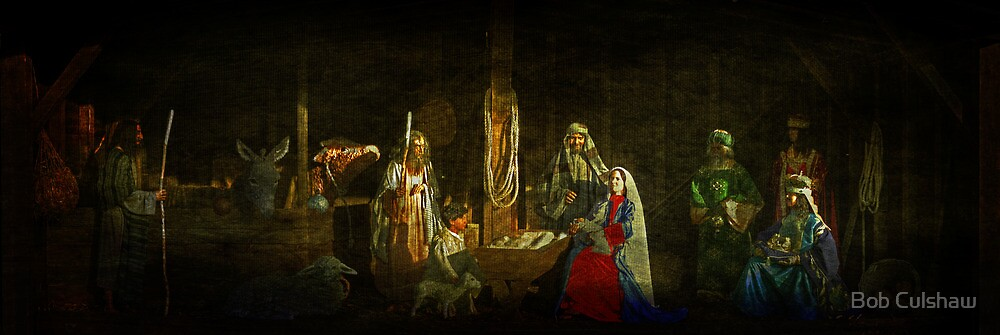 The Nativity and Seasonal Wishes by Bob Culshaw