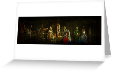 The Nativity and Seasonal Wishes by Bob Culshaw