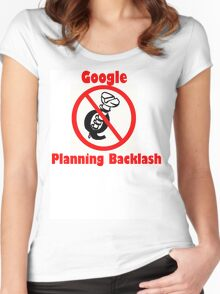 4Q T-Shirt . Style T3 Google Planning Backlash Women's Fitted Scoop T-Shirt