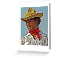 Young man on a mission Greeting Card