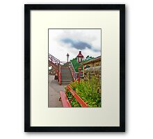 Steps & Lights at Goathland Station Framed Print