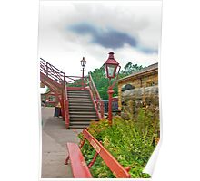 Steps & Lights at Goathland Station Poster