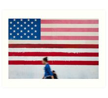 Stars And Stripes Mural Art Print