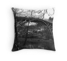 Visions of The worlds First Ironbridge Shropshire. Throw Pillow