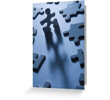 Jigsaw Man Greeting Card